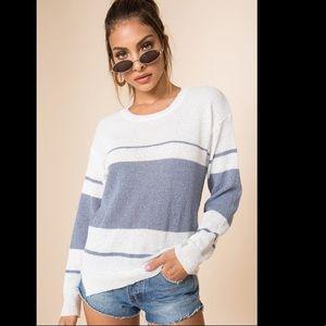 Superdown Revolve Tiffany Stripe Sweater